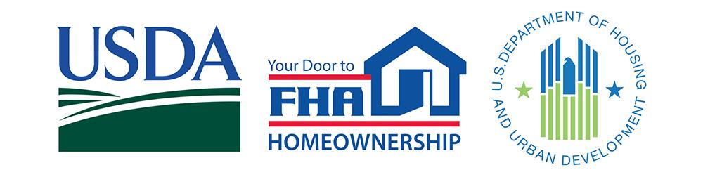 Logos for USDA, FHA, and HUD
